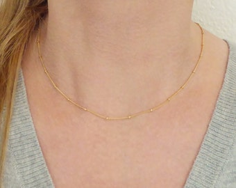 Tiny Bead Necklace + Satellite Necklace + Gold Necklace + Rose Gold Necklace + Satellite Chain Necklace + Everyday Necklace + Gold Chain