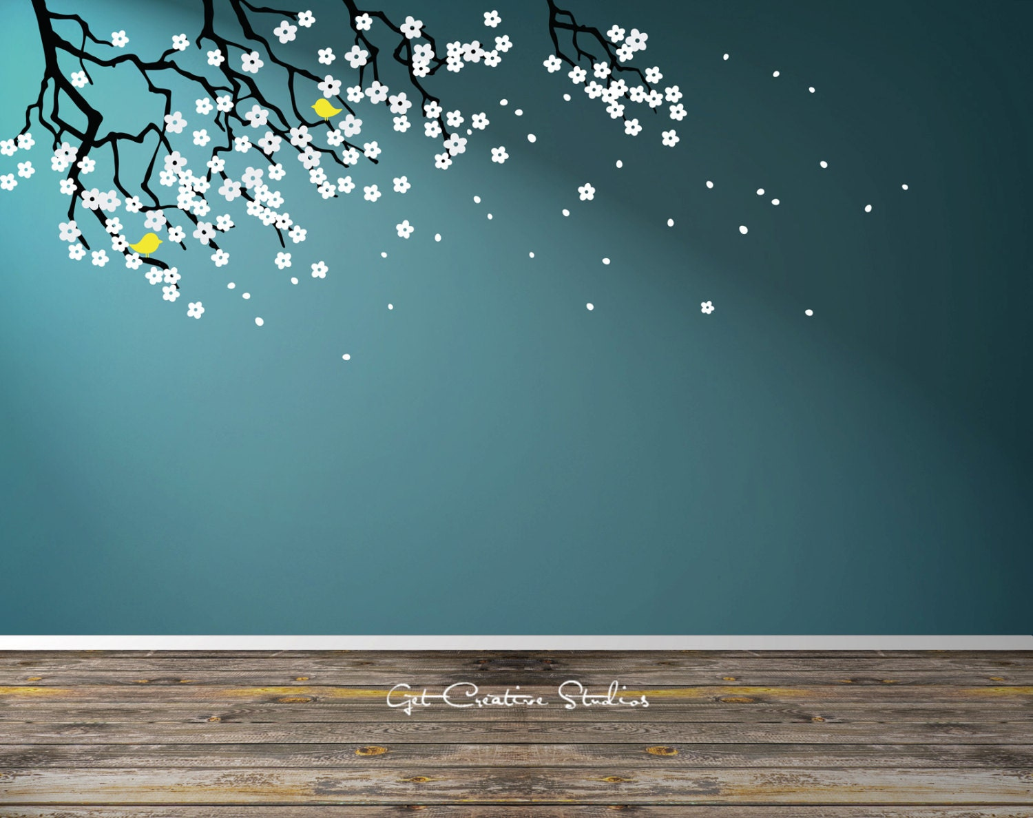 Image of: Tree Branch Decal Floral Branch Wall Decal Make Attractive Design with Baby Room Decals
