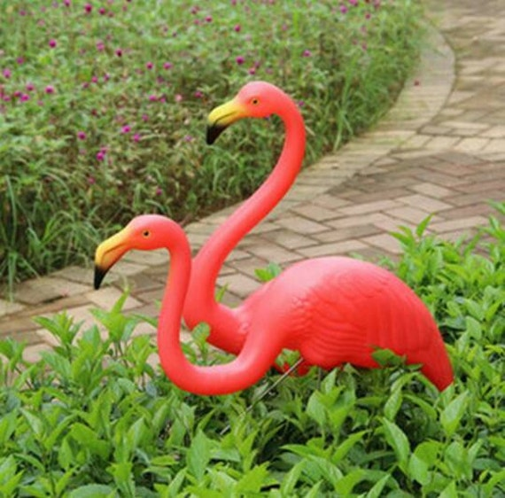 Garden Flamingo Yard Ornament Kitsch Retro By