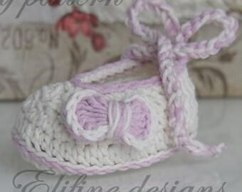 Discount crochet pattern, baby booties crochet pattern