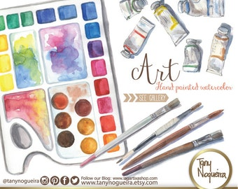 Art Elements, watercolor, painting, brushes, art party, clipart, clip art, png