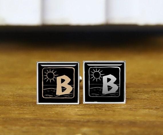 monogrammed cufflinks, custom initials cufflinks, personalized cufflinks, custom wedding cufflinks, round, square cufflinks, tie clips,  set