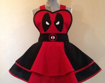 Deadpool - Deadpool Costume - Deadpool apron - Cosplay Apron - Retro apron