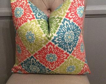Handmade Decorative Pillow Cover - Waverly - Sweet Things Capri - Multicolor
