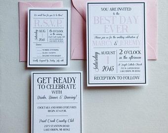 Wedding Invitation  - Best Day Ever Wedding Invitation