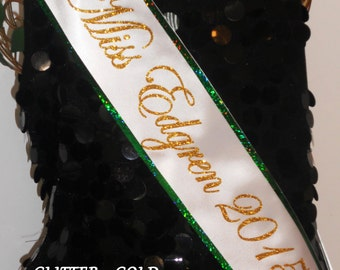 PERSONALIZED SASH, Pageant Sash, Custom Sash, Trim and Bling available by Sashanation