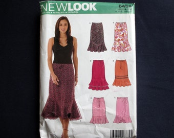 Easy Skirt with Ruffle Uncut Pattern, New Look 6463, Size 8, 10, 12, 14, Plus Size 16, 18