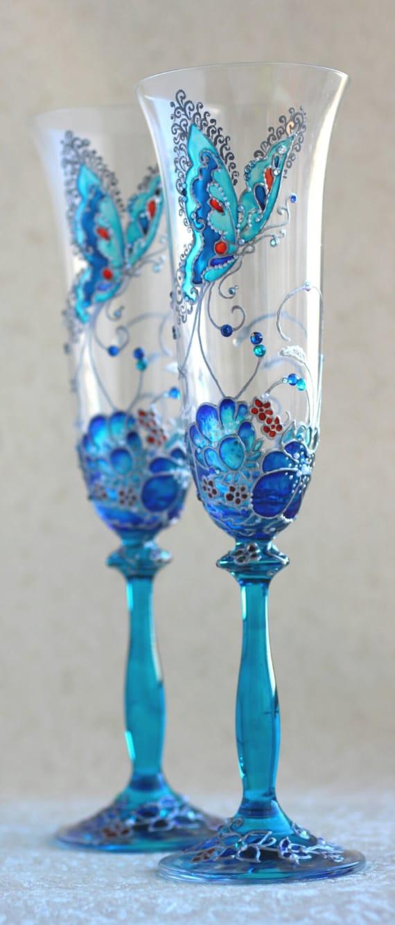 Items Similar To Wedding Glasses Champagne Glasses
