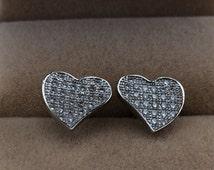 Silver Love Earrings,Pairs Stud Earrings,925 Silver Women Jewelry,Lovely Earrings,bride's Wedding Gifts