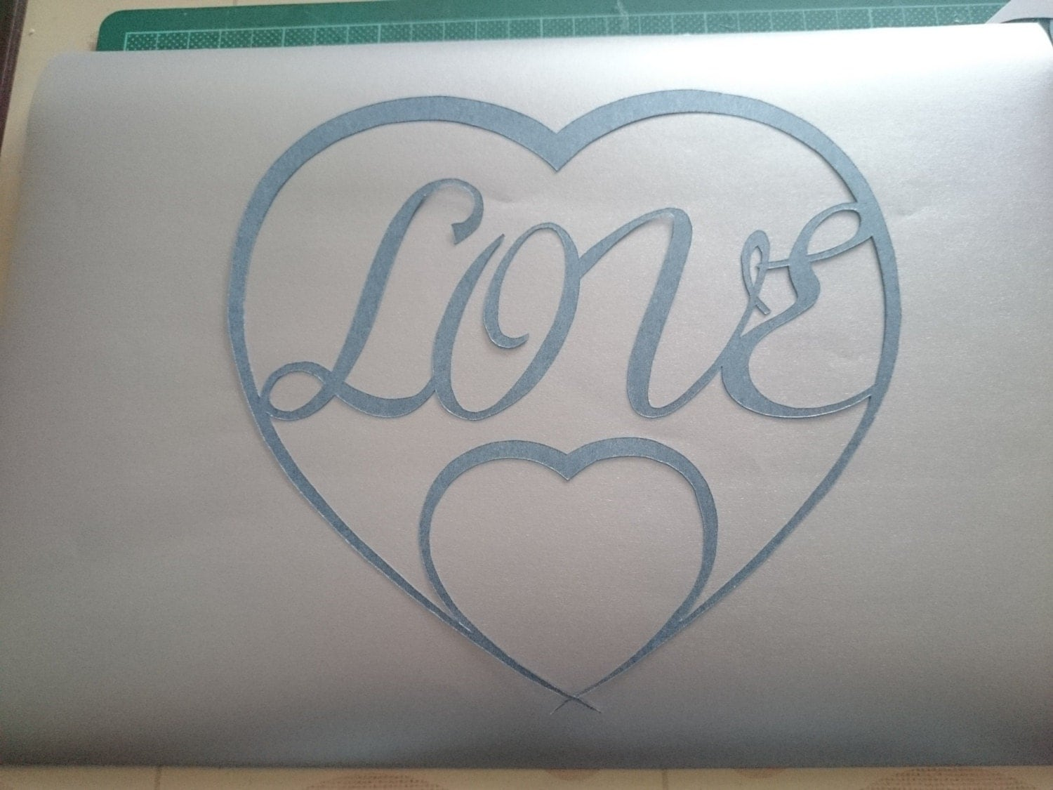 Love And Double Heart Template By Howescreativecrafts On Etsy