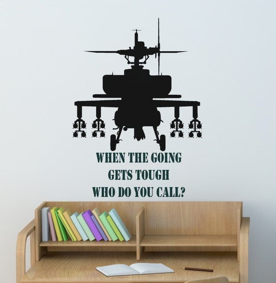 Soldier wall decal boys name sticker teen boys room