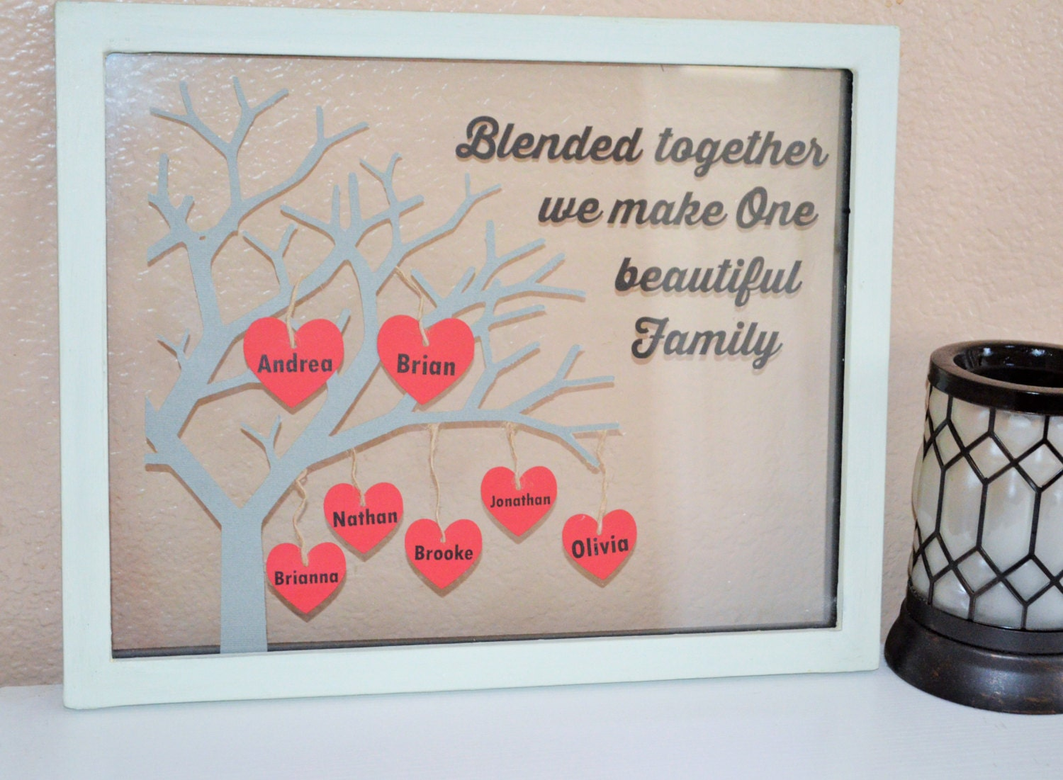 Blended Family Tree Personalized Floating Frame By