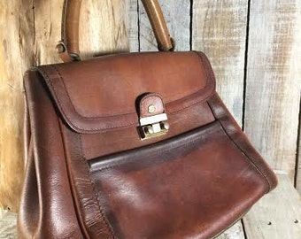 Leather Satchel Bag - Brown leather satchel handbag - brown satchel handbags - brown leather handbags, tote -studded handbags- satchel purse