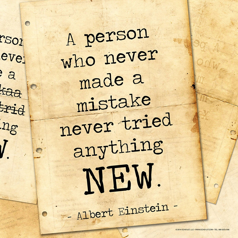 Albert einstein classic inspirational quote motivational art for Inspirational quotes for office notice board