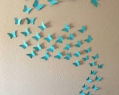 3D Wall Art.  Wall decals. Wall stickers. 3d Butterflies. Choose From 48 Colors