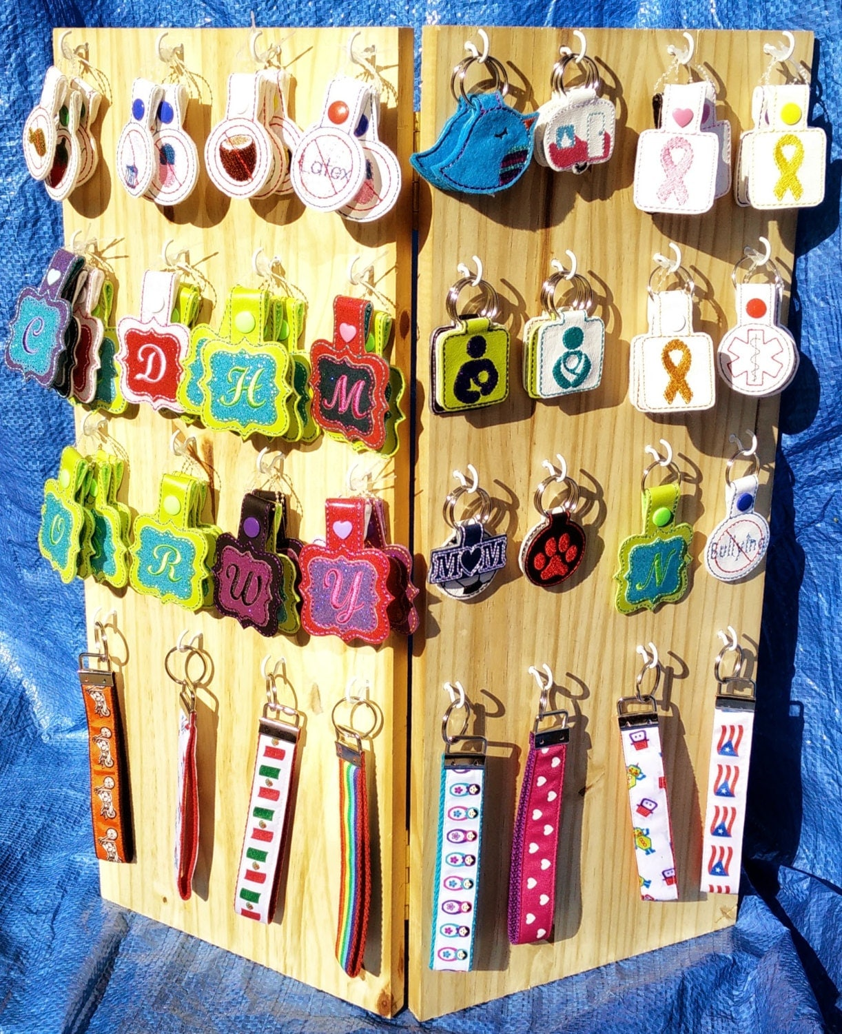 Custom made folding wooden craft show display made to any for Craft fairs and festivals