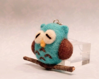 Needle Felted Owl, Felt Owl Ornament, Felted Christmas Ornament
