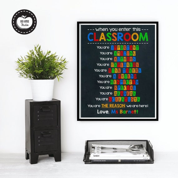 Teacher Classroom Wall Decor ~ Classroom wall decor teacher appreciation gift by
