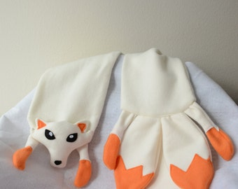 Kitsune Fox Scarf Fleece Animal Plush Japanese Anime Cosplay