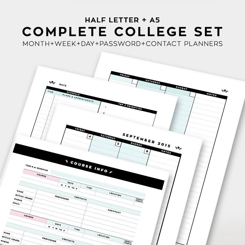 college academic planner