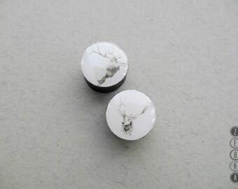 "Pair plugs Deer image wooden ear tunnels,4,5,6,10,11,12,14,16,18,20,22-60mm;6g,4g,2g,0g,00g;1/4,5/16,3/8,7/16,1/2,9/16,5/8,3/4,7/8,1,1 1/4"""