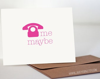 Funny Miss You Card | Call Me Maybe