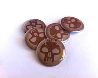 MTG - Black (Pin-Back Button)