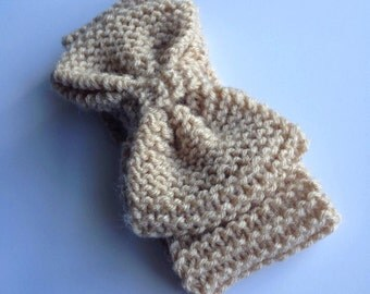 Jumbo Knit Bow Ear-Warmer Headband