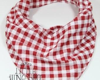 Handkerchief bib, Bandana drool bib