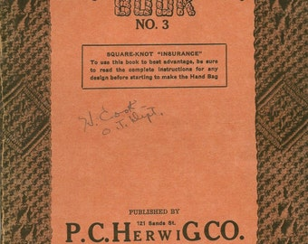 Vintage 1926 Square Knot Book No 3 by Philip C. Herwig in Two Parts Soft Cover Book