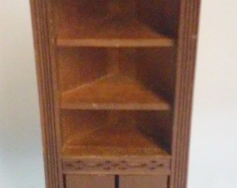Vintage Shackman Miniature Dollhouse Corner Hutch Made in Japan