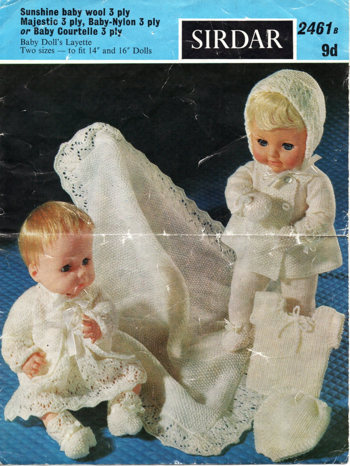 Baby Doll Clothes Knitting Patterns : Baby Dolls Clothes Knitting Pattern Baby Dolls Layette Dolls