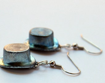 Monopoly Top Hat Token Earrings