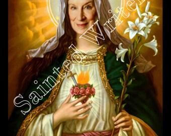 Margaret Atwood Sainted Writers Secular Prayer Candle