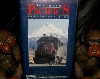 RAILROAD TRAIN Video Vhs Southern Pacific Shasta Route  PENTREX California Oregon