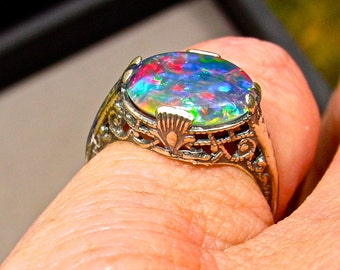 black opal 1 3 carat diamond engagement ring by amykjewels. Black Bedroom Furniture Sets. Home Design Ideas