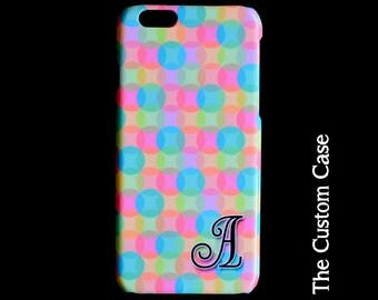 Mod Dots Phone Case, Customized Initial Iphone Case, Retro Geometric Phone Case, Iphone 4/5/5c/6/6+, Samsung Galaxy S3/S4/S5/S6/S6 Edge