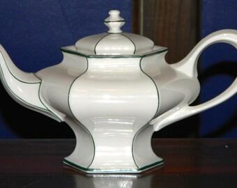 Antique Lenox Teapot with incredible Art Deco hexagonal shape