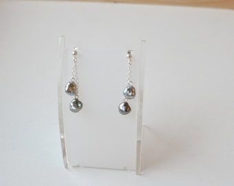Silver chains and earrings Keishis (#5004)