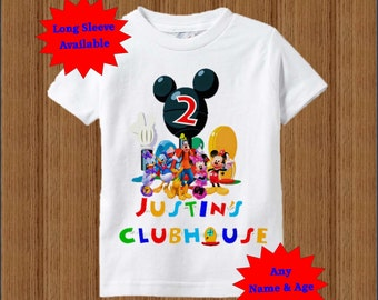 Mickey Mouse Clubhouse Birthday Shirt - Clubhouse Birthday Shirt