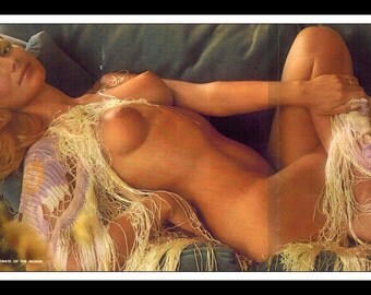 "Mature Playboy March 1975 : Playmate Centerfold Ingeborg Sorensen Gatefold 3 Page Spread Photo Wall Art Decor 11"" x 23"""