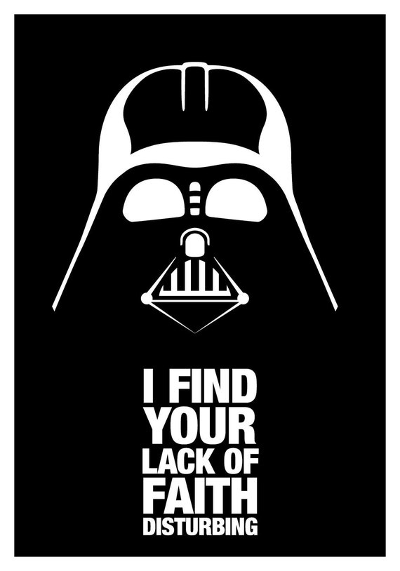 Black Dart Vader Lack of Faith Poster