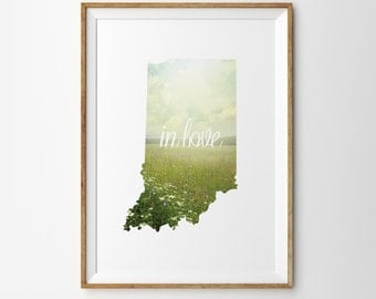 IN LOVE - State of Indiana Digital Print