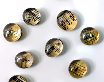 5 to 50 Sheet Music Magnets