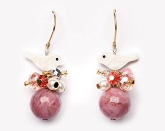 Drop earring Pippa rose pink very cute