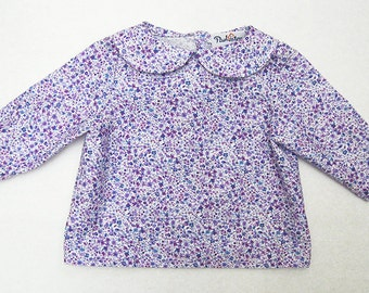 Lilac floral shirt
