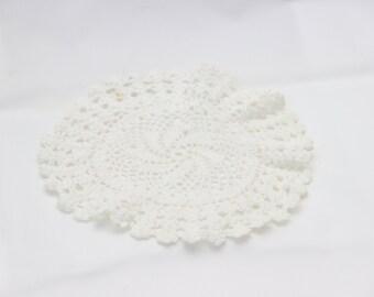 Small round doily crochet