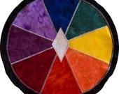 Mythala: Rainbow Slice of Life; Mandala...Myth...Mythala (Wall Hanging, Altar Cloth, Prayer, Meditation, Medicine Wheel, Ceremony, Ritual)