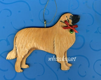 Handpainted Leonberger Christmas Ornament