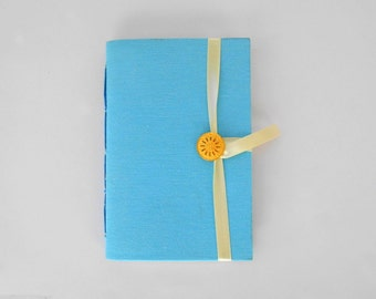 Blue journal notebook mint blue journal diary Handmade journals lined journal writing journal fabric journal notebook Turquoise journal book